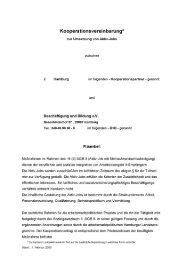 Kooperationsvereinbarung* - Beschäftigung + Bildung ev