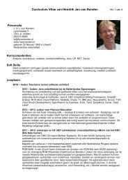 Curriculum Vitae van Hendrik Jan van Randen