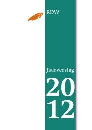 Wettelijk jaarverslag 2012 - Jaarverslagen - Rdw