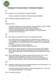 Vedtægter for Seniorklubben ToldSkat Holstebro