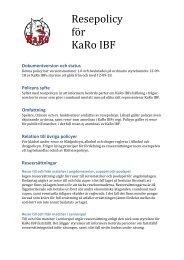 Resepolicy för KaRo IBF - Svenskalag.se