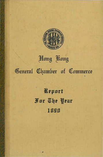1890 - The Hong Kong General Chamber of Commerce