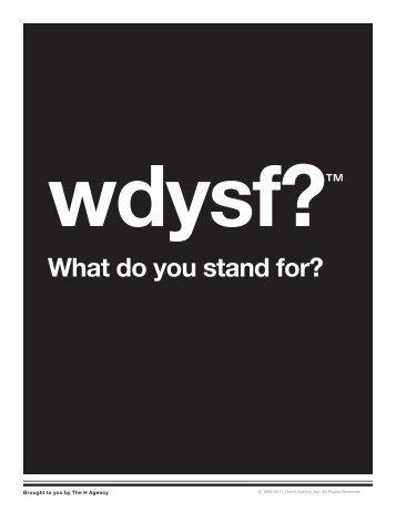 WDYSF: What do you stand for? - TwinEngine