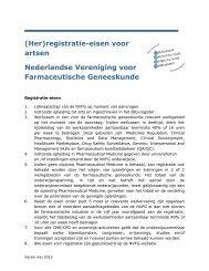 NVFG RegCie eisen artsen - Nederlandse Vereniging voor ...