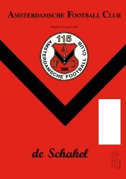 15 december 2010 89ste jaargang nummer 5 - AFC, Amsterdam