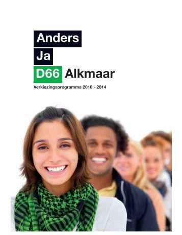 Verkiezingsprogramma - D66 Alkmaar