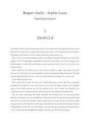 Lees hier het eerste hoofdstuk van Reigers vlucht - Boekerij
