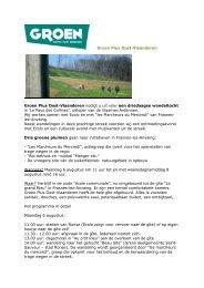 Groen Plus Oost-Vlaanderen Groen Plus Oost-Vlaanderen nodigt u ...