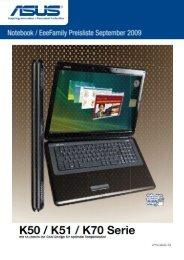 Asus - Die aktuelle Notebookpreisliste