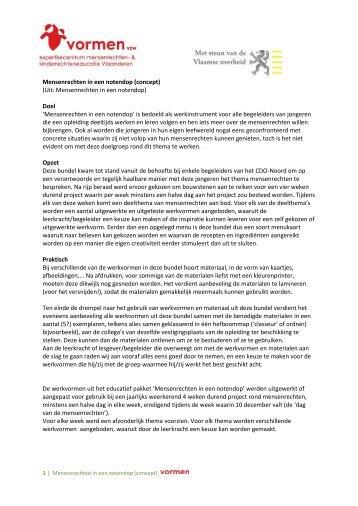 Mensenrechten in een notendop (concept) (Uit: Mensenrechten in ...