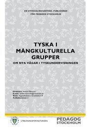 TYSKA I MÅNGKULTURELLA GRUPPER - Pedagog Stockholm