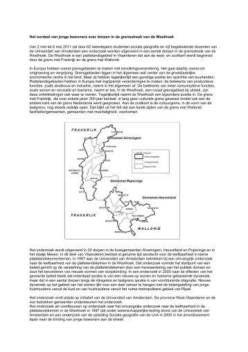 omschrijving onderzoek Prof. Frans Thissen - Reningelst