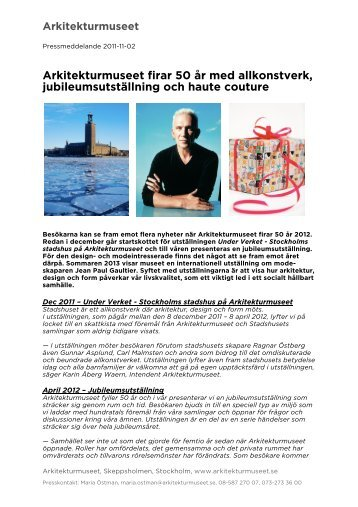 Pressmeddelande2011102.pdf - Arkitekturmuseet