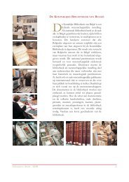 Educatieve dienst - KBR 1 De Koninlijke Bibliotheek van België is ...