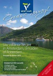 Uw vakantie begint in Amsterdam, IJmuiden of Rotterdam - VCK Travel