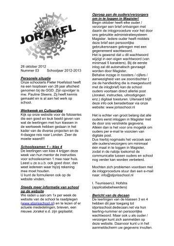 Jorakel 3 - St. Jorisschool Nijmegen