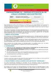 energiepremie g2 – energie-efficientie bij de lokale levering ... - Ibge