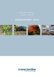 Årsrapport 2010 Concordia Forsikring as.