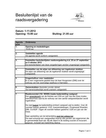 12 11 01 besluitenlijst raadsvergadering.pdf - Gemeenteraad