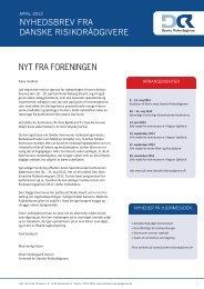 Nyhedsbrev april 2012 - Danske Risikorådgivere