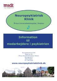 Neuropsykiatrisk Klinik - Center for Psykiatrisk Forskning