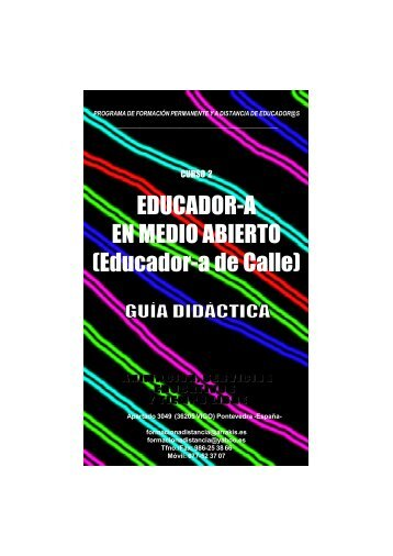 Guia Didactica EDUCADOR-A EN MEDIO ABIERTO (Educador-a de Calle)