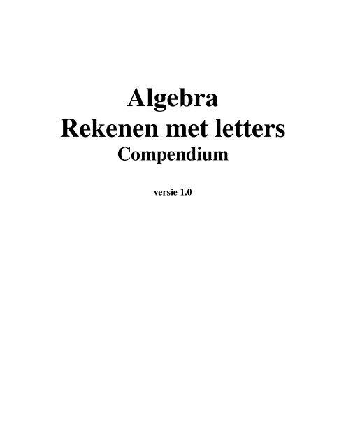 wiskunde online