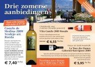 Drie zomerse aanbiedingen - Wijnkoperij van Bilsen
