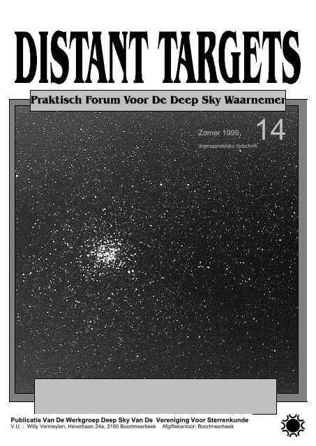 Zomer 1999 - Werkgroep Deepsky
