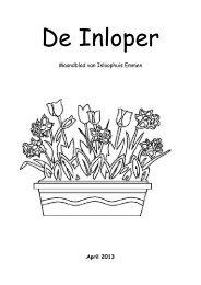 Maandblad van Inloophuis Emmen April 2013