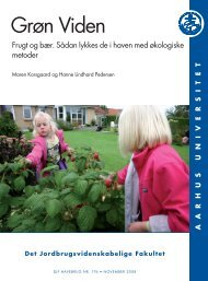 grøn viden - Aarhus Universitet