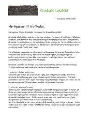 Høringssvar til trafikplan. - Grauballe Lokalråd - Silkeborg Kommune