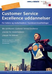 Customer Service Excellence uddannelser - Service & Support Forum