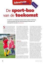 De sport-bso van de toekomst - Max Kinderopvang