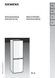 Siemens KG 39NA00 Fridge Freezer Operating Instructions User ...