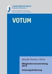Votum 1/2010 - auf den Seiten des Deutschen Richterbundes