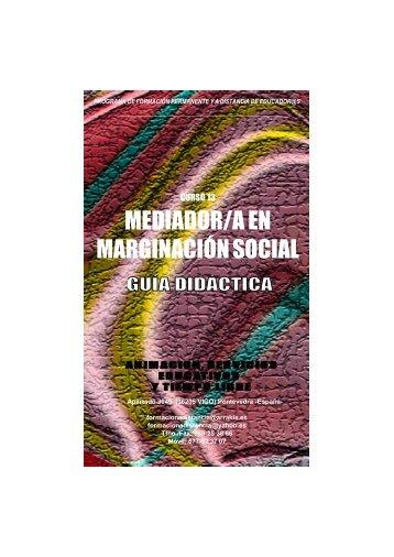 Curso Mediador en marginacion e inadaptacion social. Guia Didactica
