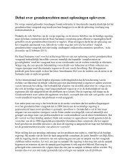 Debat over grondenrechten moet oplossingen ... - GFC Nieuws