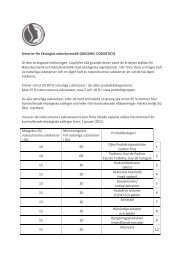 Kriterier för Ekologisk naturkosmetik (ORGANIC ... - Weleda