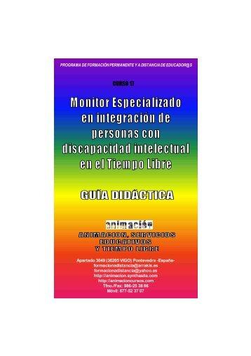 Curso Monitor integracion de personas con discapacidad intelectual. Guia Didactica