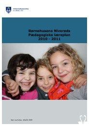Børnehusene Niverøds Pædagogiske læreplan 2010 - 2011