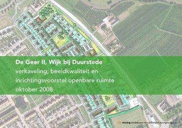 De Geer II, Wijk bij Duurstede verkaveling, beeldkwaliteit en ...