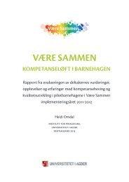 VÆRE SAMMEN - Universitetet i Stavanger