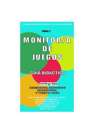 Curso Monitor de Juegos. Guia Didactica