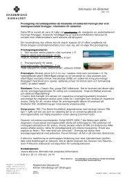 Provtagning vid lumbalpunktion då misstanke om bakteriell meningit ...