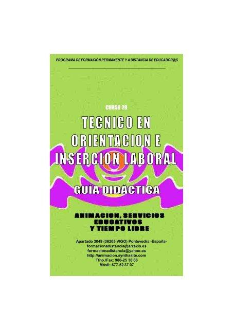 Curso Tecnico Orientacion e Insercion Laboral. Guia Didactica
