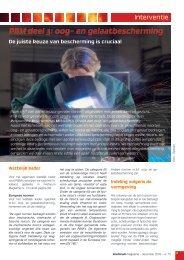 Pbm deel 3: oog- en gelaatbescherming - Febelsafe