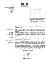 Chaumont le 23 septembre 2011 l'Inspectrice d'académie directrice ...
