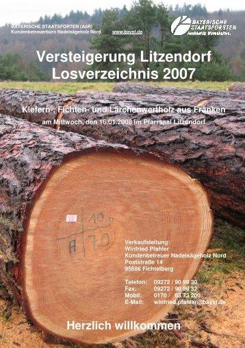 Lagerplatz - Bayerische Staatsforsten