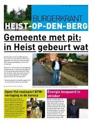 burgerkrant 2 2009 - Open VLD Heist-Op-Den-Berg